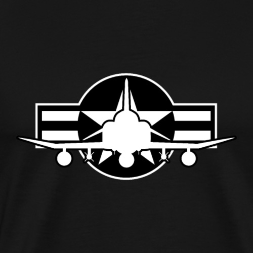 F-4 Phantom II Military Fighter Jet Airplane - Men's Premium T-Shirt