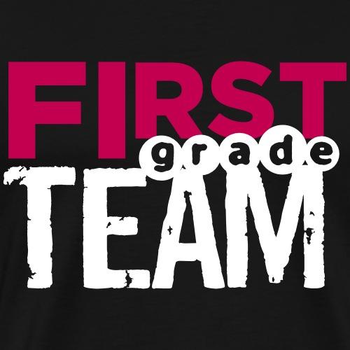 Bold First Grade Team Teacher T-Shirts - Men's Premium T-Shirt