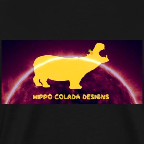 Hippo Colada Designs- Hot Sun - Men's Premium T-Shirt