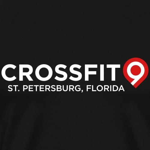 CrossFit9 Classic (White) - Men's Premium T-Shirt