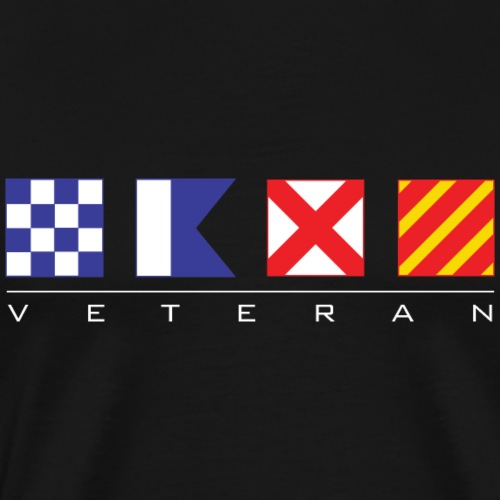 N - A - V - Y Veteran Signal Flags - Men's Premium T-Shirt