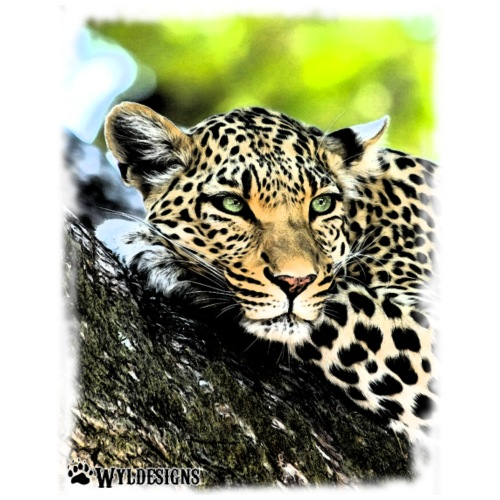 Leopard On A Tree - Men's Premium T-Shirt