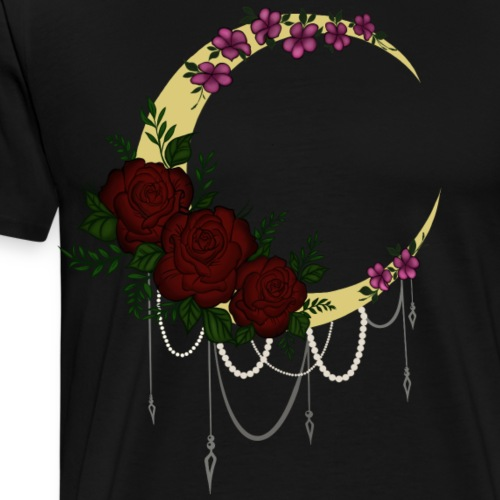 Moon flowers - Men's Premium T-Shirt