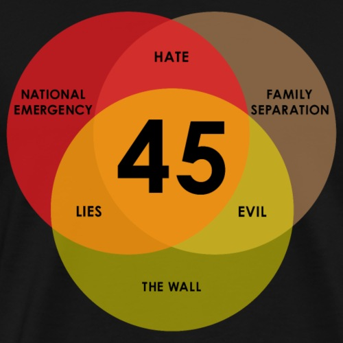 Trump Lies Hate Evil Venn Diagram - Men's Premium T-Shirt