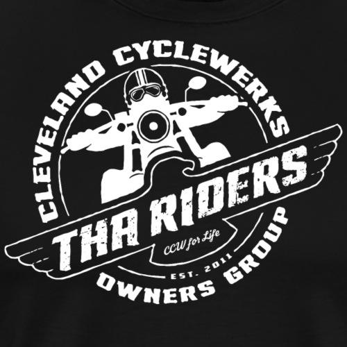 Tha Riders white COG logo - Men's Premium T-Shirt