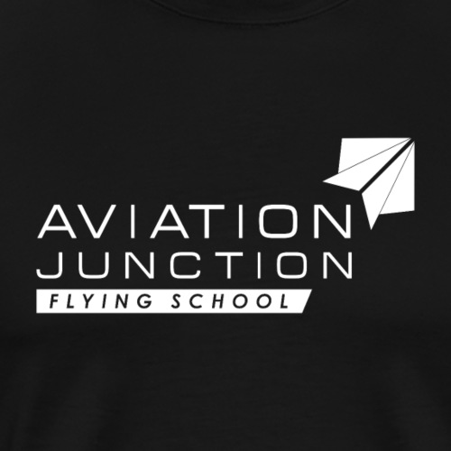 AJ Flying School white Logo - Men's Premium T-Shirt