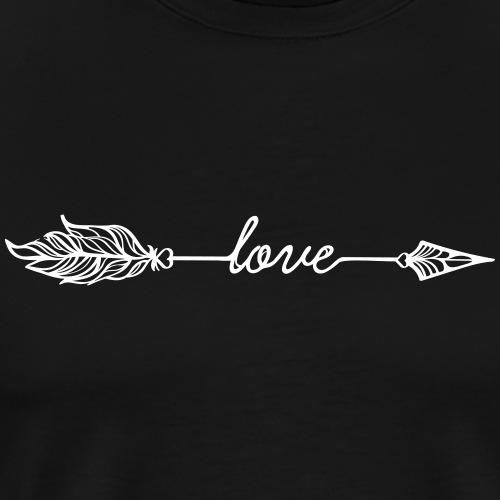 Arrow Love (Archery by BOWTIQUE) - Men's Premium T-Shirt