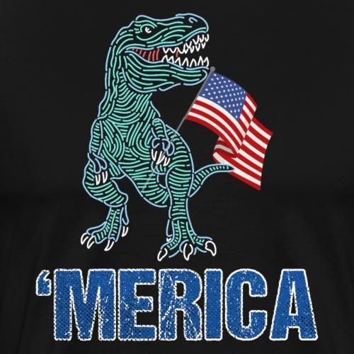 Patriotic T-Rex American Flag Independence Day - Men's Premium T-Shirt