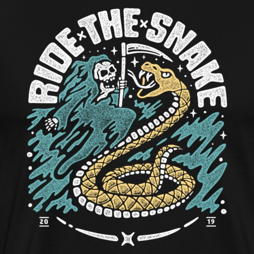 ride the snake - Men's Premium T-Shirt