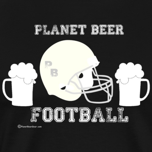 Planet Beer Football - Men's Premium T-Shirt