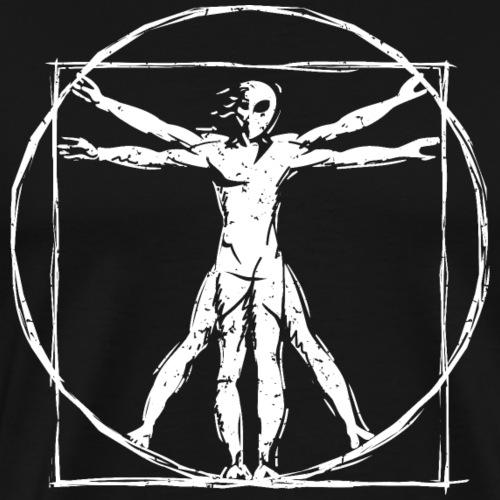 Da Vinci Vitruvian Alien Man - Men's Premium T-Shirt