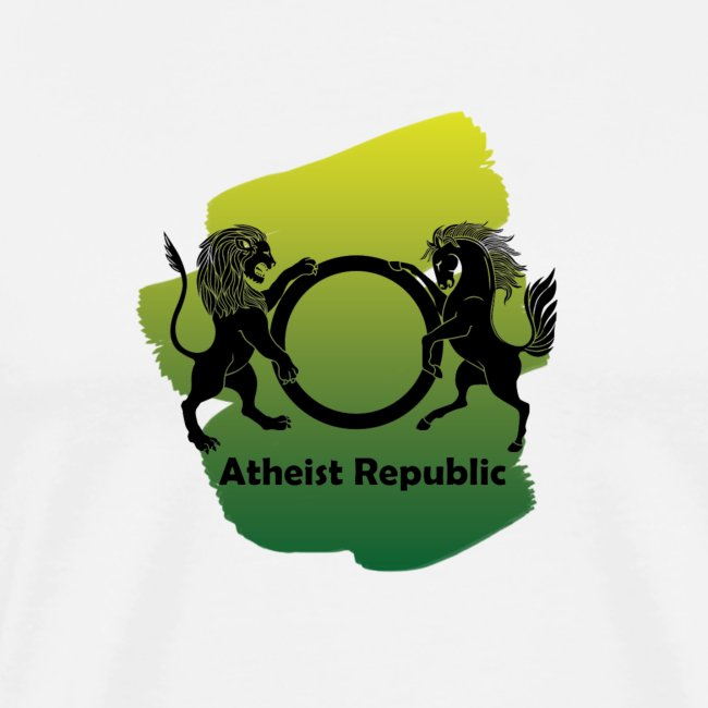Atheist Republic Logo - Yellow & Green Paint