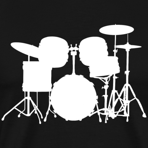 Drumset 1 white - Men's Premium T-Shirt