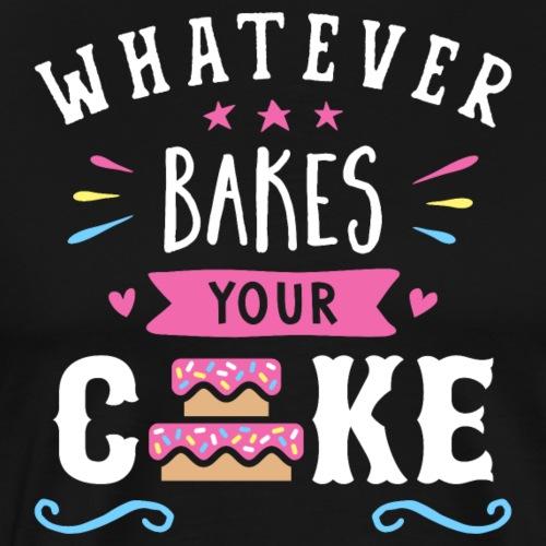 Whatever Bakes Your Cake Typography - Men's Premium T-Shirt