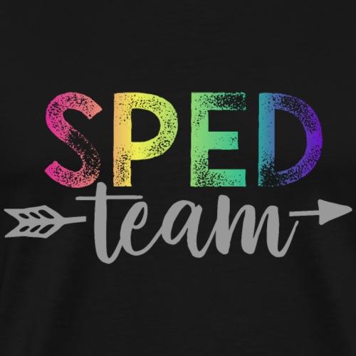SPED Team Teacher T-Shirts Rainbow - Men's Premium T-Shirt