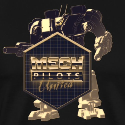 Mech Pilots United - Gold - Men's Premium T-Shirt
