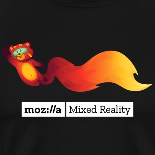 Foxr Flying (white MR logo) - Men's Premium T-Shirt