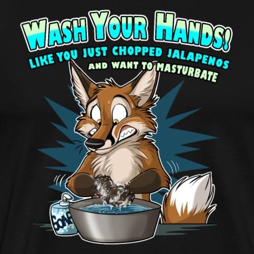 Wash Your Hands (blue) - Men's Premium T-Shirt