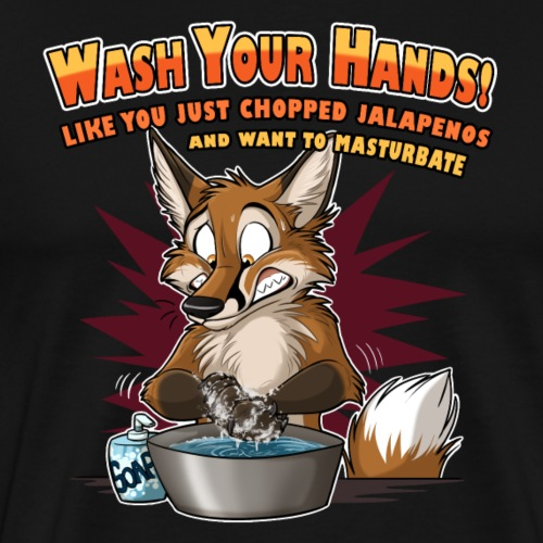 Wash Your Hands (red) - Men's Premium T-Shirt