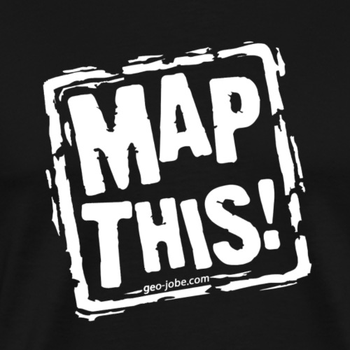 MapThis! White Stamp Logo - Men's Premium T-Shirt