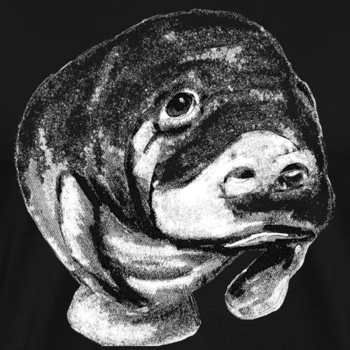 Manatee sketch - Men's Premium T-Shirt