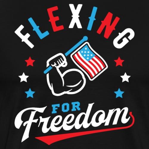 Flexing For Freedom - Men's Premium T-Shirt