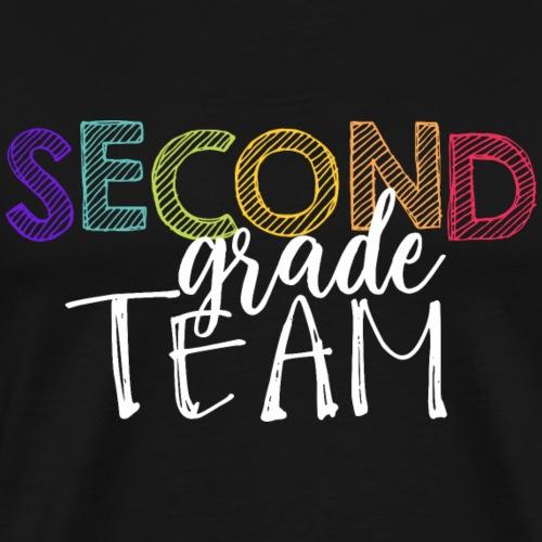 Second Grade Team Grade Level Team Teacher T-Shirt - Men's Premium T-Shirt