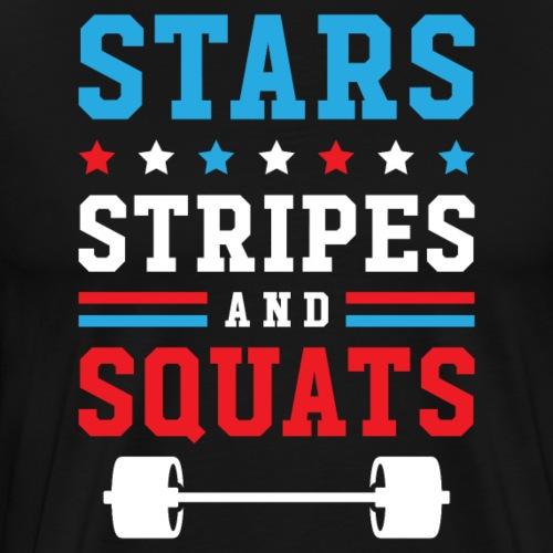 Stars, Stripes And Squats v2 - Men's Premium T-Shirt