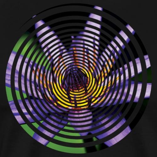 Purple Water Lily Circle - Men's Premium T-Shirt