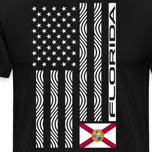 Modern US State Flag T-Shirt: FLORIDA - Men's Premium T-Shirt