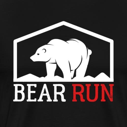 Bear Run Funny Black bear Running - Men's Premium T-Shirt