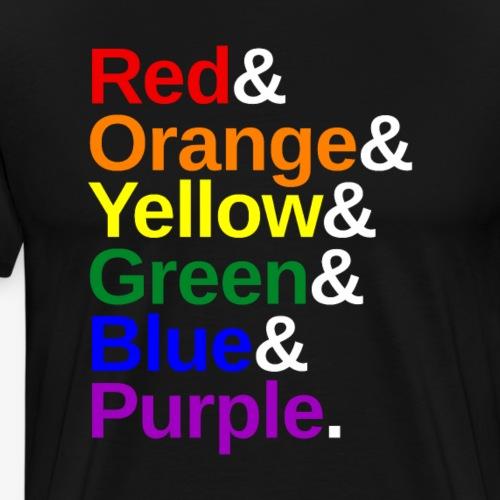 LGBTQ Color List - Men's Premium T-Shirt