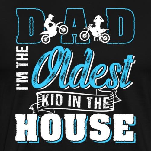 Motocross Dad Dirt Bike - Men's Premium T-Shirt