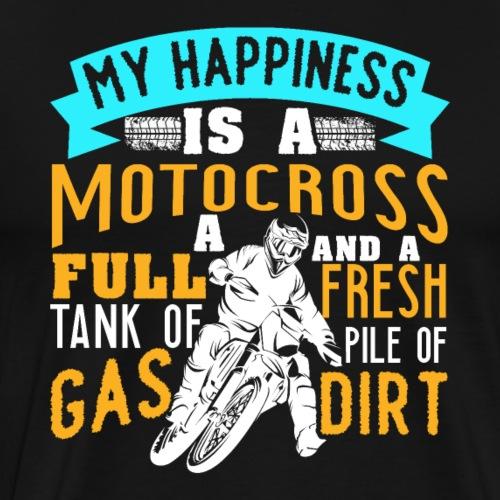 Motocross Happiness - Men's Premium T-Shirt