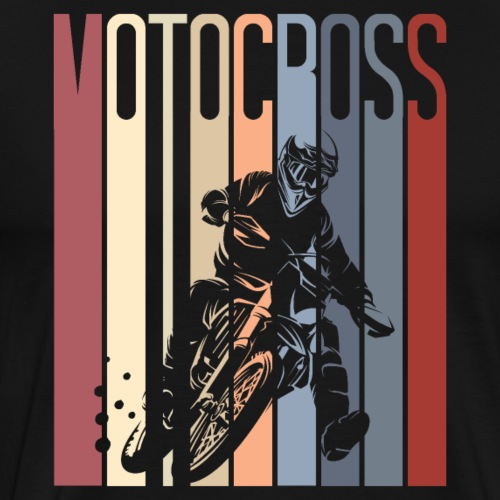 Motocross Retro Style Dirt Bike - Men's Premium T-Shirt
