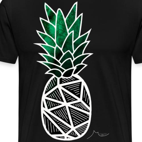 Green Geometry PineApple | Collector ♛ - Men's Premium T-Shirt