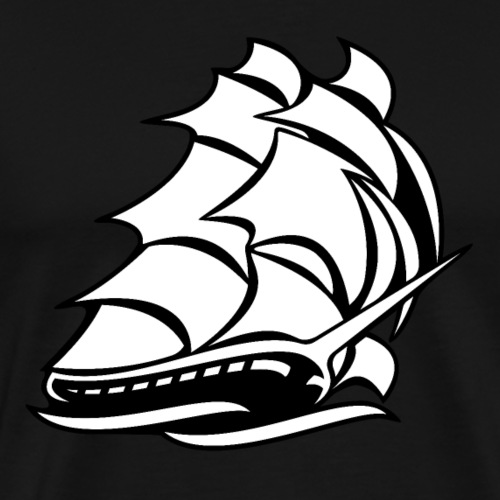 Old Tall Sailing Ship - Men's Premium T-Shirt