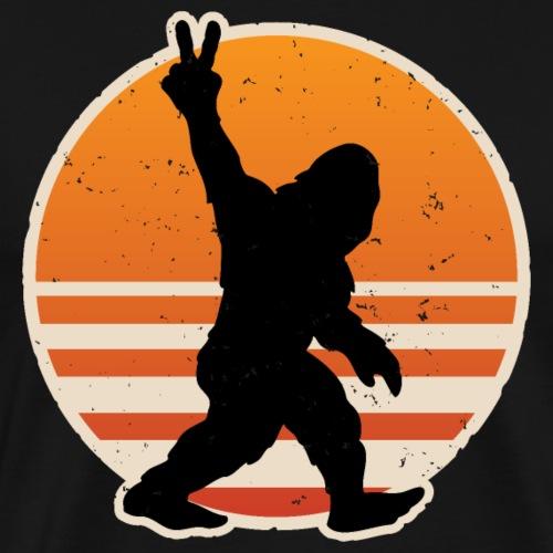 Retro Bigfoot Peace - Men's Premium T-Shirt