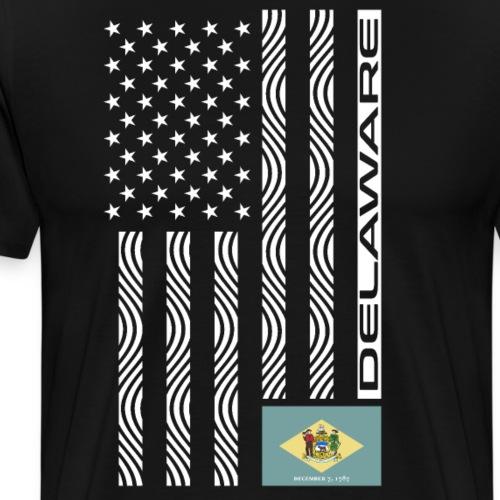 Modern US State Flag T-Shirt: DELAWARE - Men's Premium T-Shirt