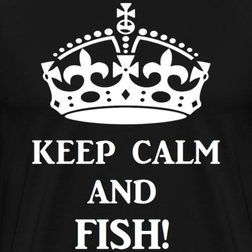 keep calm fish wht - Men's Premium T-Shirt