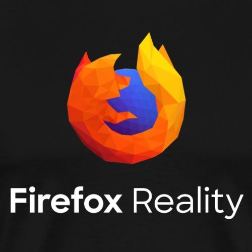 Firefox Reality - Transp., Vertical, White Text - Men's Premium T-Shirt