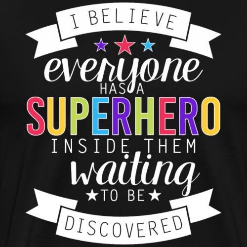 Discover Your Superhero Inspirational Teacher - Men's Premium T-Shirt