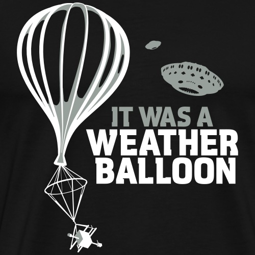 Weather Balloon UFO - Men's Premium T-Shirt