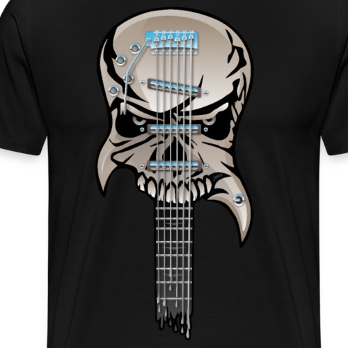 Skull Guitar - Men's Premium T-Shirt