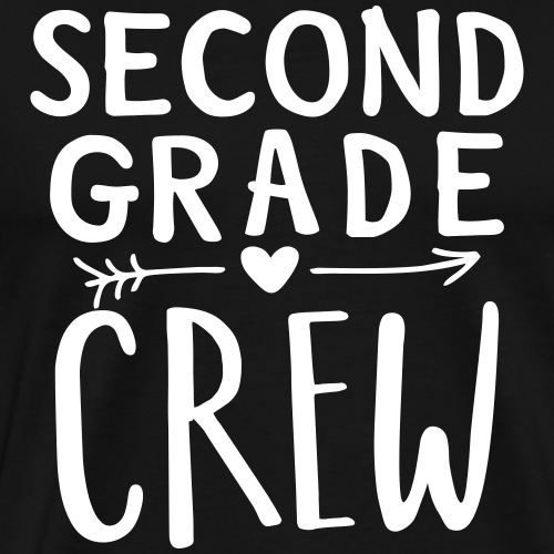 Second Grade Crew Heart Teacher T-Shirts - Men's Premium T-Shirt
