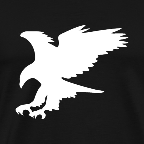 Majestic Eagle in Flight Silhouette - Men's Premium T-Shirt