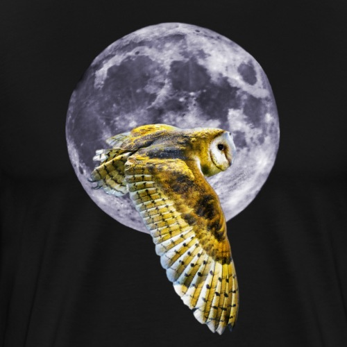 Owl and Moon - Men's Premium T-Shirt