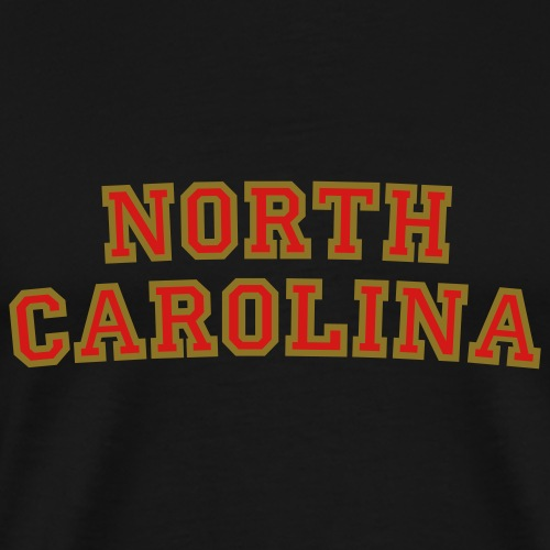 North Carolina College Style Rounded 2 - Men's Premium T-Shirt