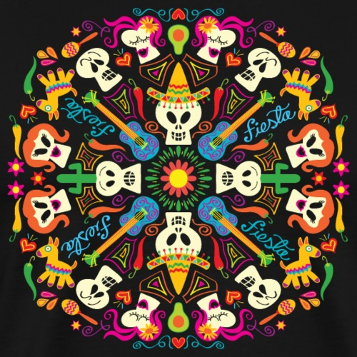 Cool Mexican skulls celebrating Day of the Dead