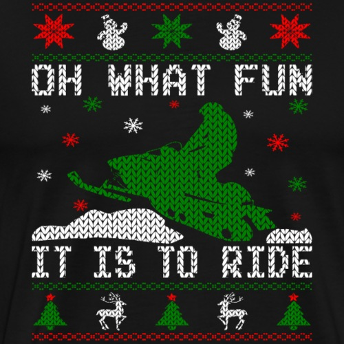 Oh What Fun Snowmobile Ugly Sweater style